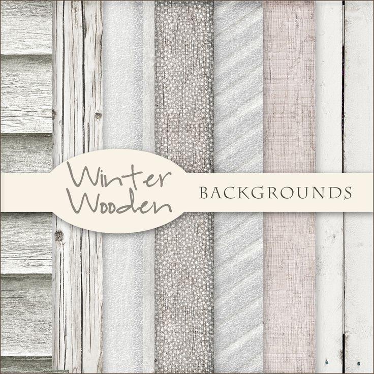 Freebies Winter Wooden Backgrounds