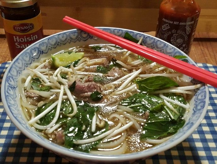 Pressure Cooker Vietnamese Pho Tai tastes as good but is better than in an authentic Vietnamese restaurant because it is made at home.
