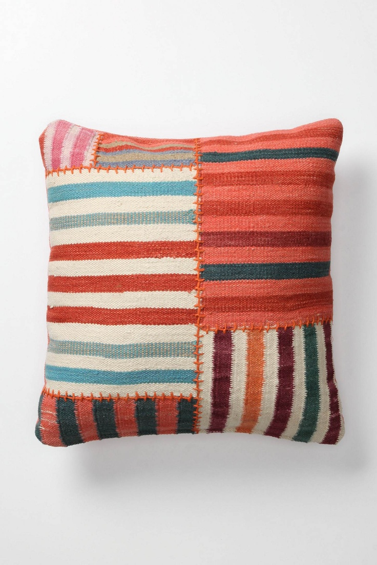 Stripe pillowLiving Rooms, Band Dhurrie, Dhurrie Pillows, Dhurrie Cushions, Large Squares, Anthropologie Com, Floors Pillows, Throw Pillows, Couch Pillows