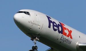 Quarterly revenue of $10.56 billion was up 9 percent from last year's $9.66 billion, and operating income at $813 million was up 107 percent from $393 million. Its operating margin—at 7.7 percent—was up from 4.1 percent. FedEx reported earnings per share of $1.55, edging Wall Street estimates of $1.52.