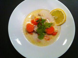 Chili, ginger and lemon soup fricassee Chilis-gyömbéres, citromos csirkebecsinált leves