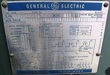 Ge Distribution Transformer Nameplate Testing And