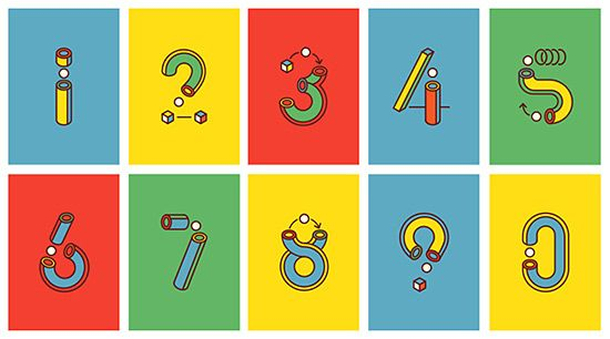Yorokobu Numbers: Geometric Series by Tatalab | Inspiration Grid | Design Inspiration