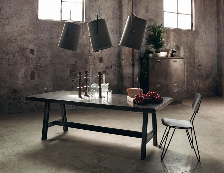 Table and chairs for Diesel Social Kitchen   Design by Diesel.