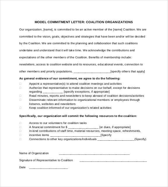 Commitment Letter Sample Commitment Letter Sample En 2020