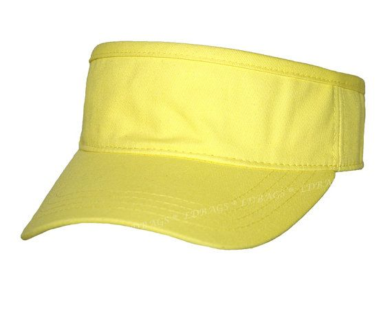 #Monogram #Beach #Hat #Corporate #Logo Hat #Coporate #Hat #Business #Personalized #Visor #Yellow #Monogrammed Visor Hat #Bridesmaid gift #bridesmaid. 100% cotton twill Adjustable Metal Clip low profile fit 6-panel cap Unstructured Soft Crown @shopwithcg 100% Cotton  The Sporty Look Pro Stitch on Crown 8 Rows Stitching on Visor Matching Fabric Undervisor Matching Fabric Sweatband Matching Fabric Adjustable Hook and Loop Closure