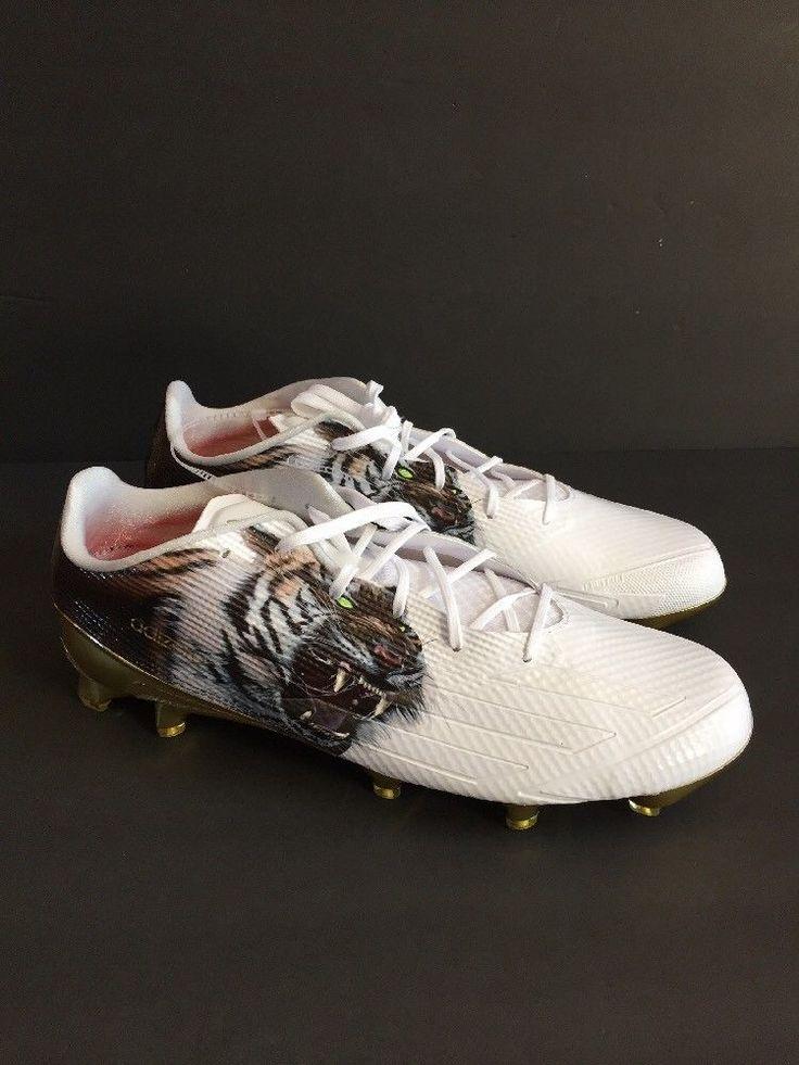 Adidas Adizero 5-Star 5.0 Uncaged Mens Football Cleats Tiger AQ7810 White Gold  #adidas