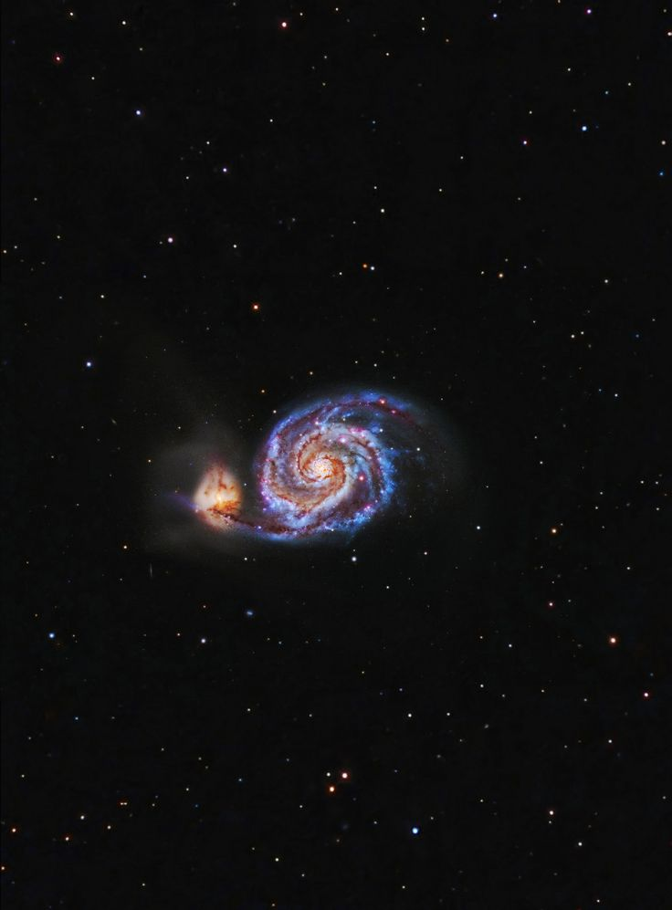 Whirlpool galaxy center