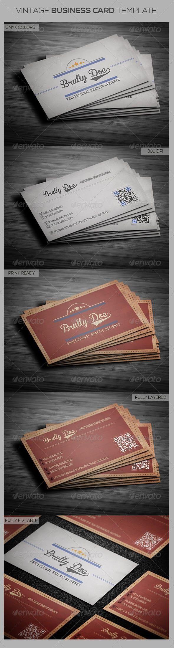 Vintage Business Card Template Vintage Business Cards Template Retro Business Card Business Card Template