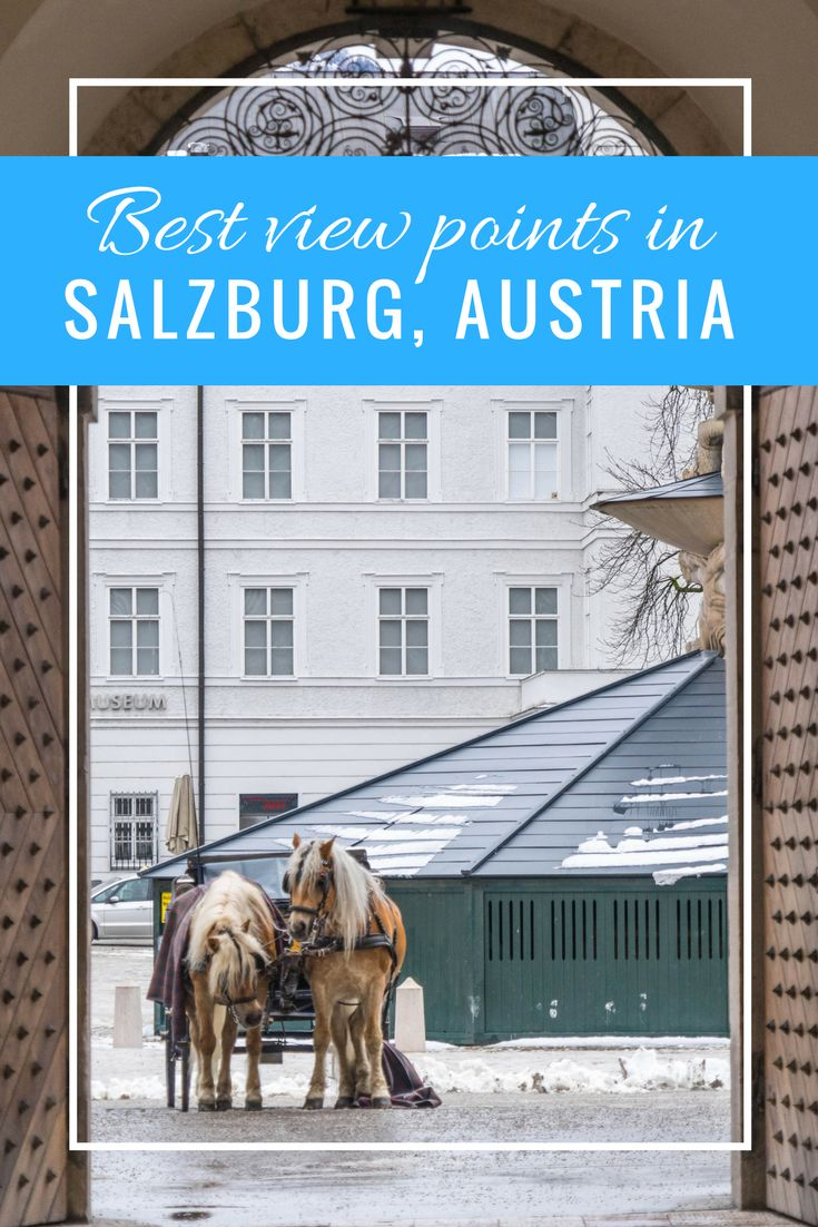 Salzburg in Austria is build on different hills. From multiple places you have an awesome view over the city!