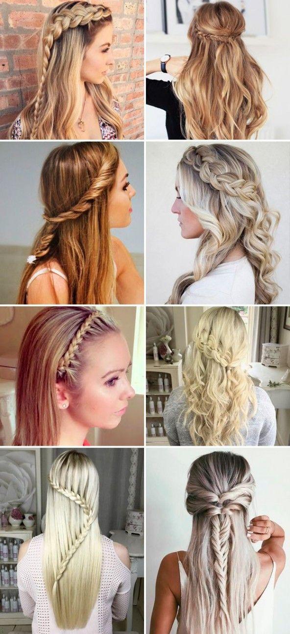 Pin By Aksheeta Jaulim On School Hairstyles Easy Hairstyles For Long Hair Medium Hair Styles Heatless Hairstyles