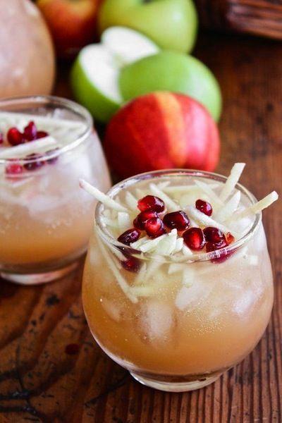 Cocktail aux pommes : sangria blanche
