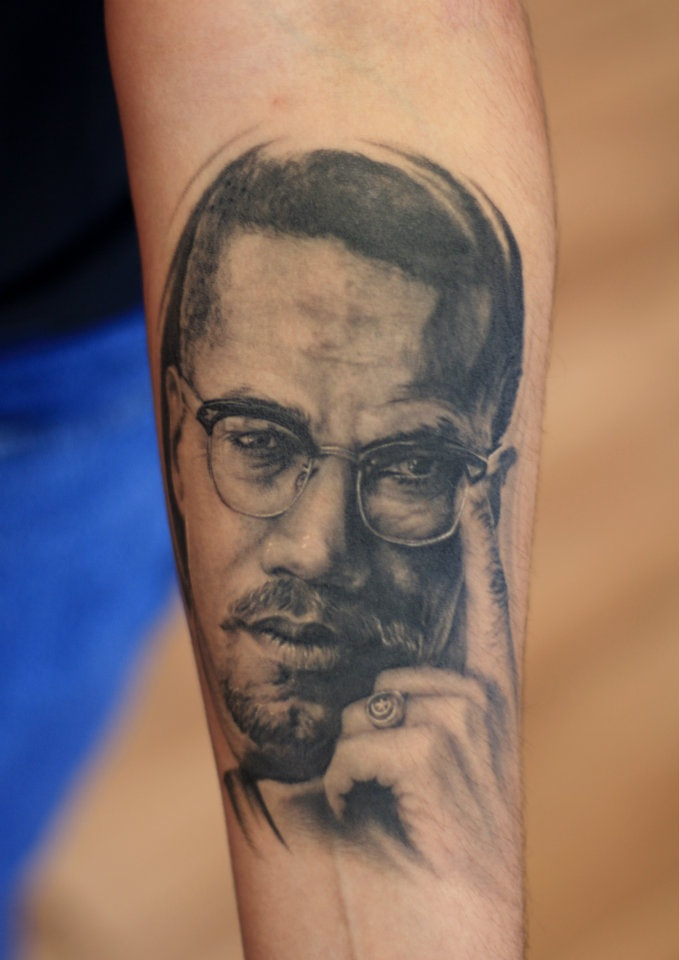 Malcolm x tattoo quotes images for Nas malcolm x tattoo