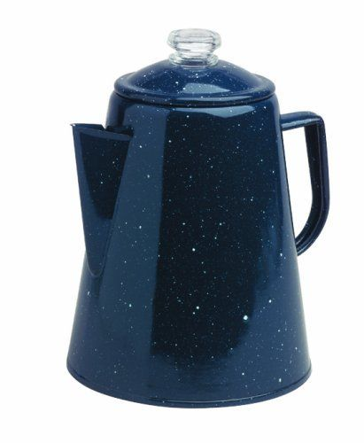 Granite Ware 1.7 Imp.Quart Coffee Percolator, Blue by Granite Ware. $24.20. Easy to clean. For use with gas, electric, induction stovetop or outdoors. Durable and energy efficient. Porcelain fused to a steel core. Large, easy-to-hold handle. Easy clean up. Make coffee for the whole gang, at the campsite or at home, with the Granite Ware 2 Qt. Coffee Percolator. The percolator is durable and stands up to heavy use. A clear knob in the percolator lid lets you se...