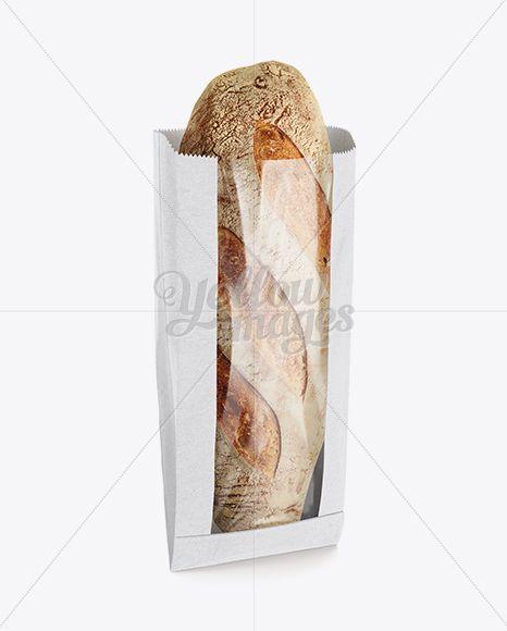 Paper Bread Bag w/ Serrated Edges Mockup