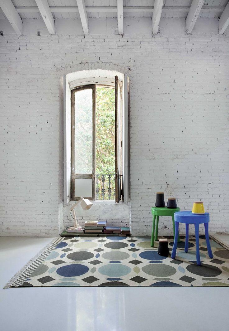 ... 100% Schurwolle Gefertigt Und überzeugt Durch Sein Zeitloses Design.  Die Farblich Abgestimmten Geometrischen Formen Machen Diesen Teppich Zum  Eyecatcher ...