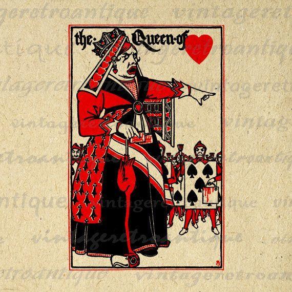 Alice Perrin Google Search: Vintage Queen Of Hearts Alice In Wonderland