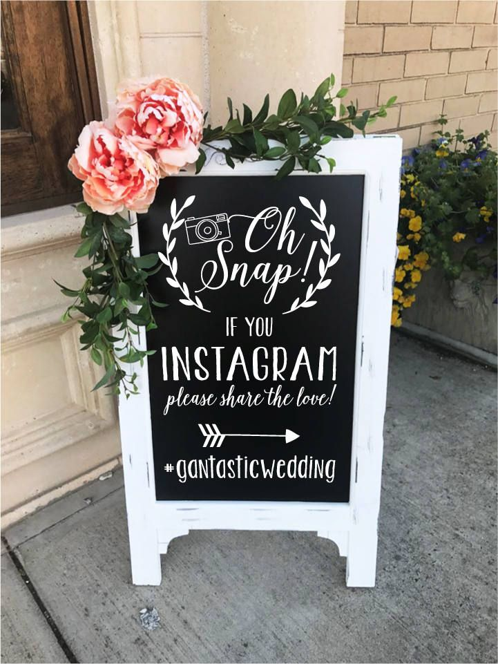 Oh Snap Instagram Hashtag Social Media Sign Wedding Photography Share The Love Wedding Sign Wedding Decor Bridal Shower Chalkboard Easel by TIMBERANDLACECO on Etsy