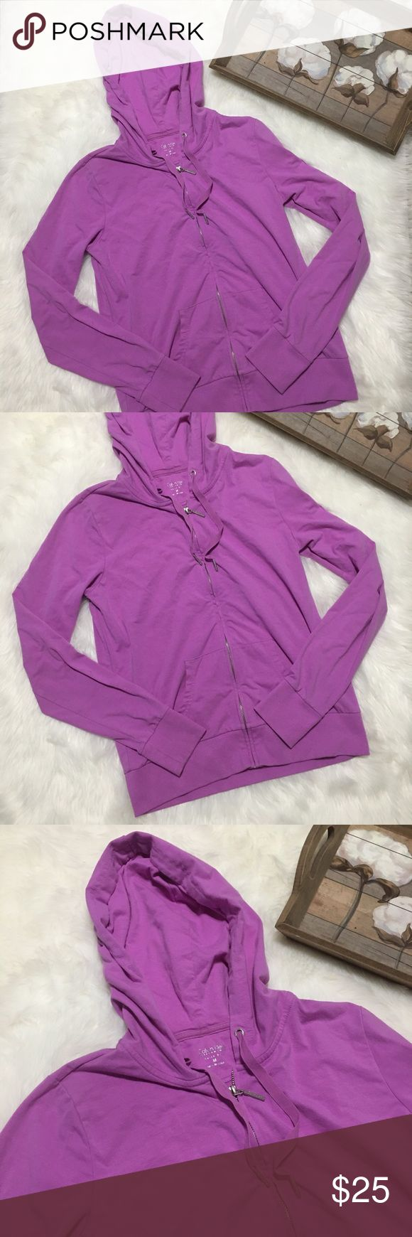 Calvin Klein Purple Zip Up Hoodie Sweater Sz M Stunning Calvin Klein hoodie sweater Zip Up size medium in excellent condition! Calvin Klein Tops Sweatshirts & Hoodies