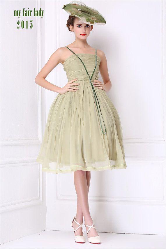 == New Arrival ==  Woodland Wedding Moss Green Silk Bridesmaid Dress Wizard of Oz Fairy Wedding Retro Green Silk Velvet Dress Strapless Short