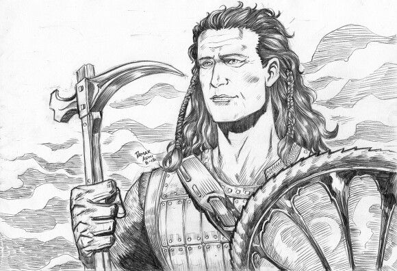 Braveheart pencil artwork