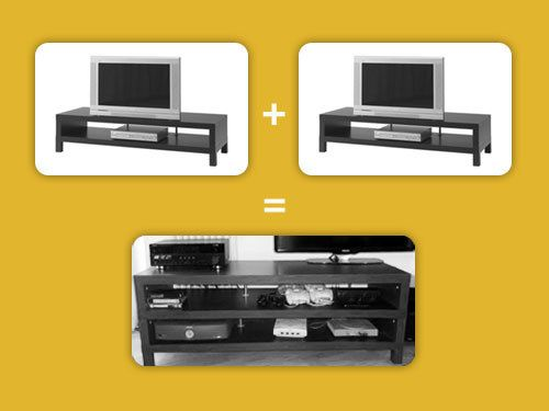 Double Your Media Storage By Combining Two IKEA LACK TV Units | Lifehacker Australia