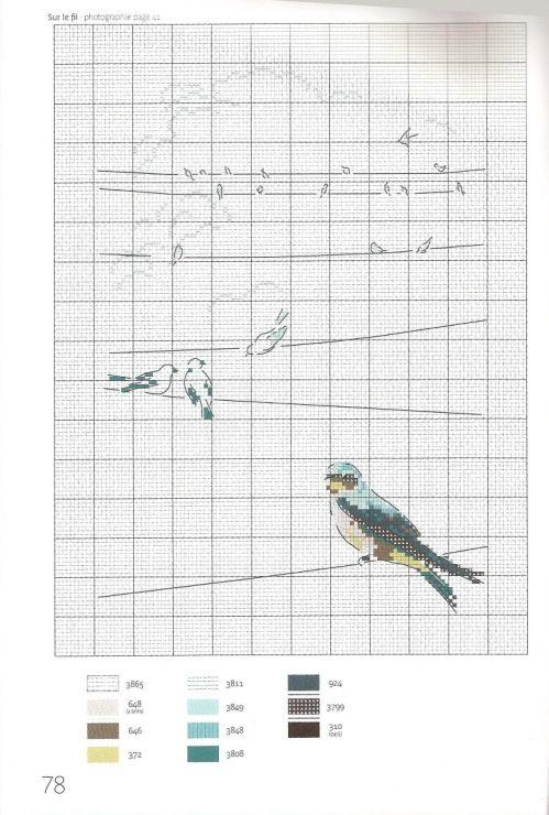 Gallery.ru / Фото #71 - Helene Le Berre - Les oiseaux a broder - velvetstreak