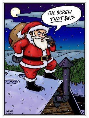 Santa on roof pinned by dakwaarde roofvalue christmas roof