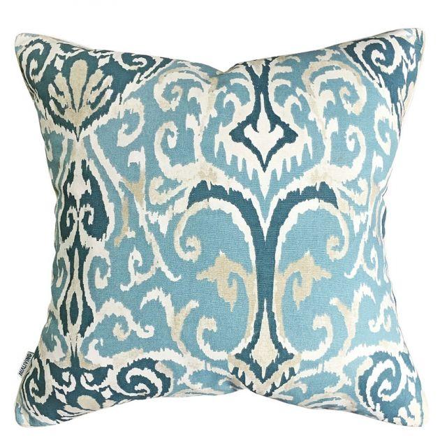 Ikat Blue Pillow #pillows #throwpillow #interiors #homedecor #cushions #mialiving