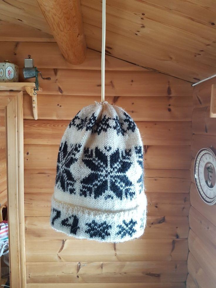 Knitting in Selbu pattern.
