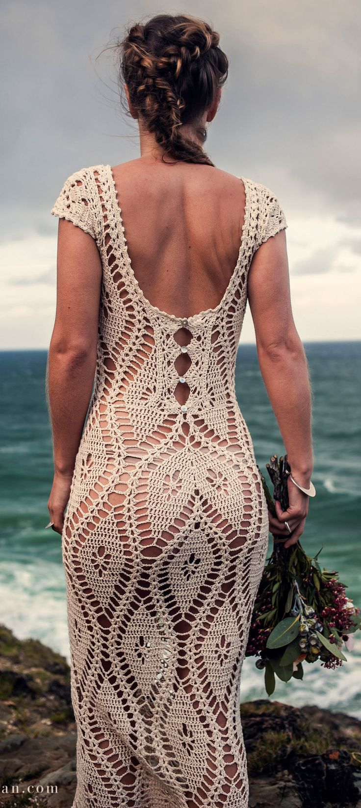 handmade crochet dress by IsaCatepillan on Etsy
