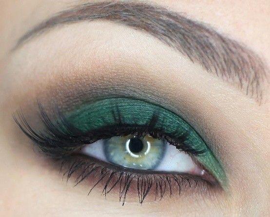Trucco occhi verdi, idee make up  - Ombretto verde