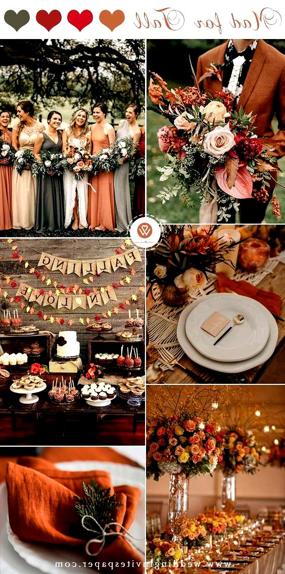Top 9 Fall Wedding Color Schemes for 2019—burnt orange