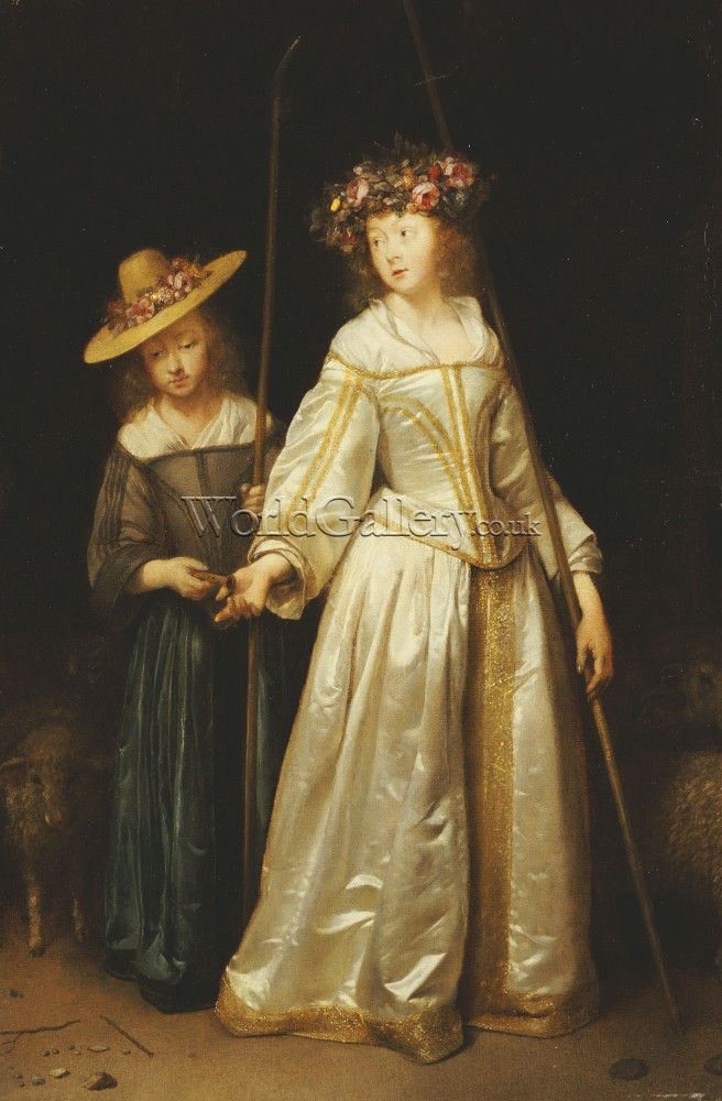 Portrait Of Gesina Terborch (1631-1690), The Artists Stepsister, 1651    by Gerard Terborch