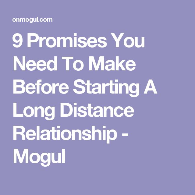 9 Promises You Need To Make Before Starting A Long Distance