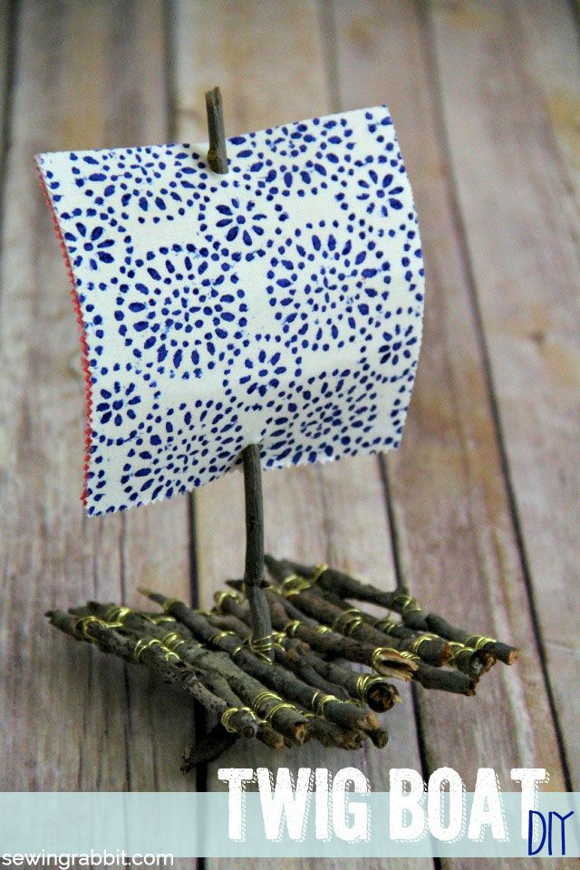DIY twig boat - fun crafts for kids