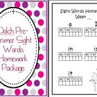 Turn these pages into a simple homework package for your students so they can learn the Dolch Pre-Primer words at home.    Want all 5 Dolch homework ...