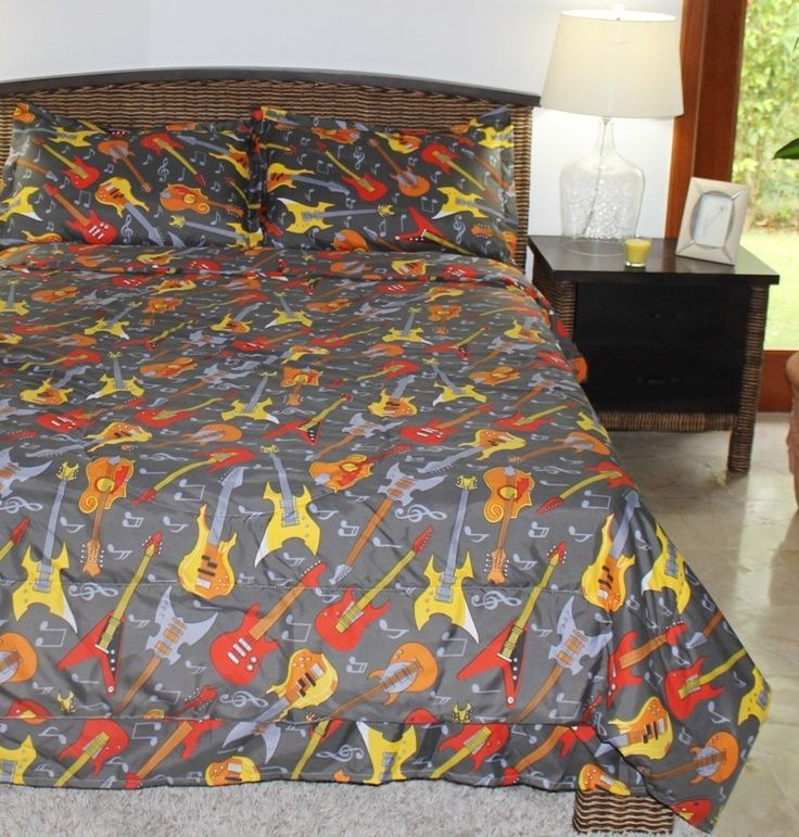 9 best fun duvets for girls images on pinterest bed in a for Guitar bedding for boys