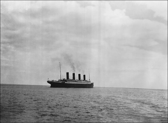 The Titanic...The last photo of the Titanic taken before it sank in 1912. If they only knew…