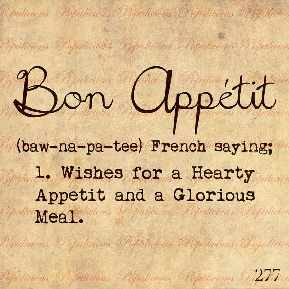 Bon Appetit Dictionary Definition Text Word by popalicious on Etsy, $0.99