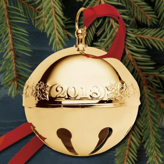 2018 Wallace Sleigh Bell 29th Edition Goldplate Ornament 2018