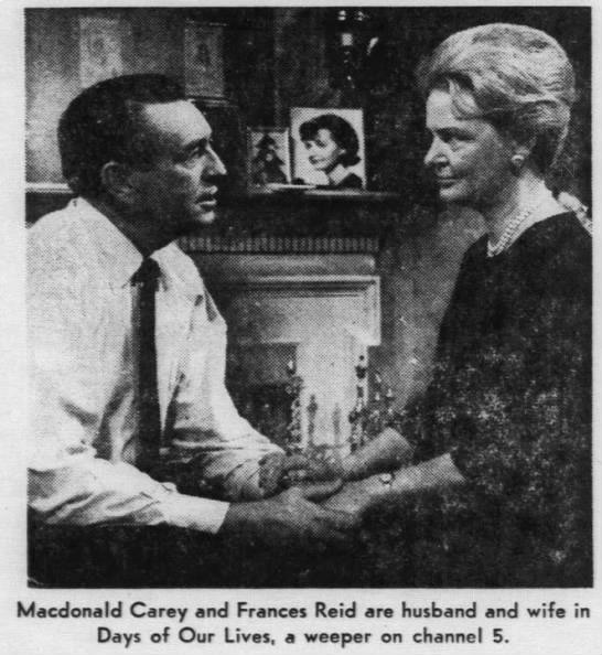 Macdonald Carey and Frances Reid