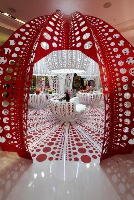 The giant pumpkin.    Kusama Louis Vuitton Concept Store | Selfridges.com ~ see today's blog post www.maylanascloset.com