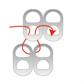 can tabs :: staggered can tab pattern