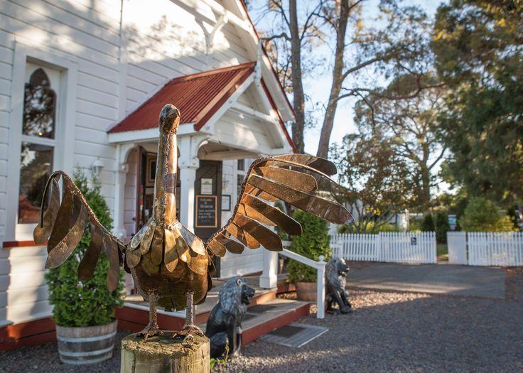 Front of Birdwoods - with Birdwoods Metal Sculpture Shag.