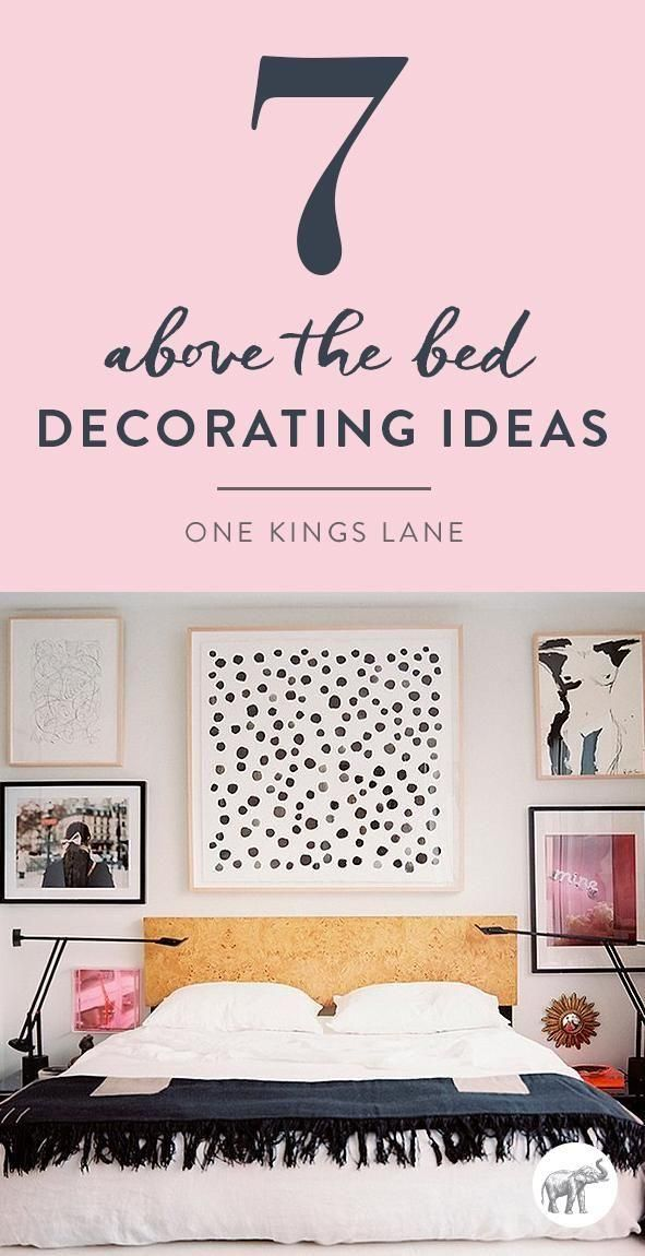 7 inspiring ideas for the wall above your bed bedroom for Ways to decorate your bedroom walls