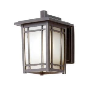 Hampton Bay Port Oxford 1-Light Wall-Mount Outdoor Oil Rubbed Chestnut Lantern-23012 at The Home Depot (will need 4)