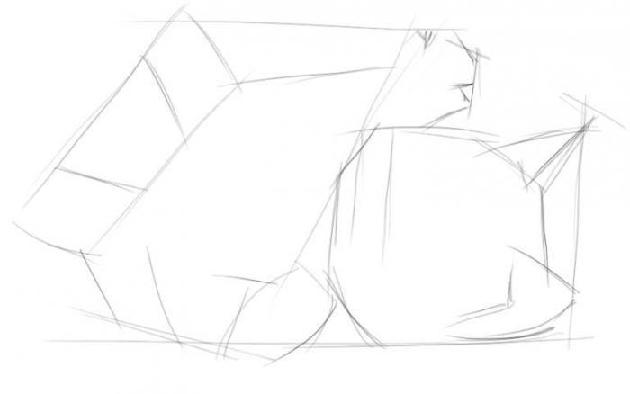 Как нарисовать поэтапно котенка