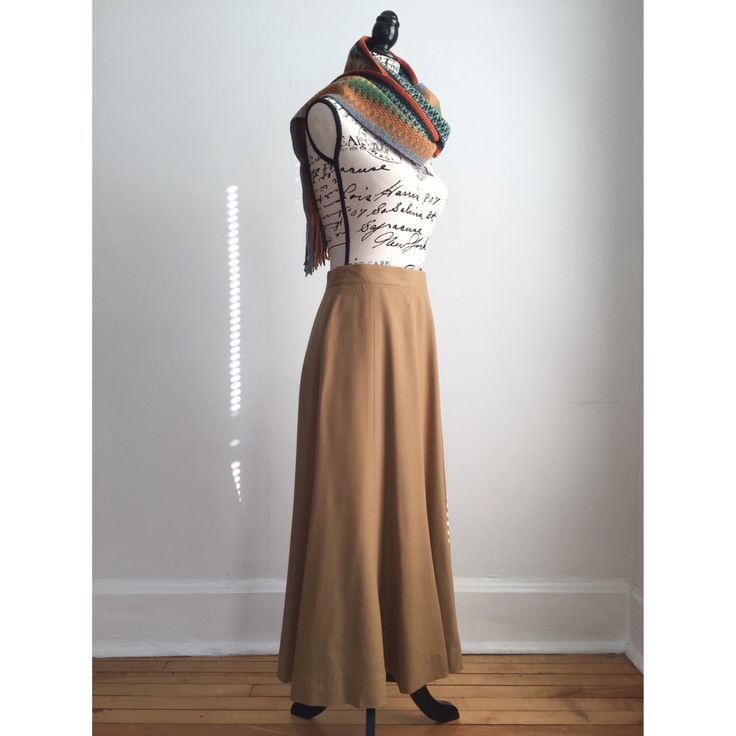 Vintage Wool Skirt, Camel Color Long Wool Skirt, 80s Skirt, Fall Skirt, Winter Skirt, Vintage Maxi Skirt by VicFoundThis on Etsy https://www.etsy.com/listing/489729673/vintage-wool-skirt-camel-color-long-wool