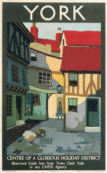 England - Yorkshire - York Travel Poster